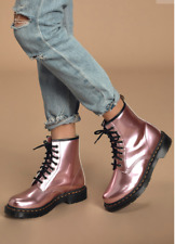 Dr. Martens 1460 PASCAL Vegan Metallic Leather Boot MSRP$165 in PINK