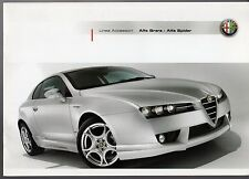 Alfa Romeo Brera & Spider Accessories 2007-08 UK Market Sales Brochure