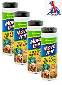 4 x PestShield Move It Cat & Dog Garden Repellent Non Toxic 100% Natural 240g