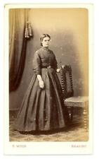 Lady on early cdv by T Wood of Reading