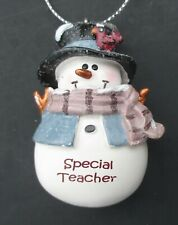z Special teacher Snowman figurine Ornament Christmas