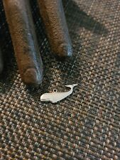 Vintage Sterling Silver Sperm Whale Charm Pendant Stamped Sterling