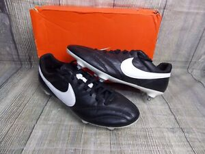 NIKE TIEMPO PREMIER SG FOOTBALL BOOTS BNIB £99+ PRO 6uk GENUINE  BLACK CLASSIC