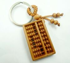 45*26MM Hand-carved abacus Wooden Crafts,Key Chain,Key Ring Lover D21
