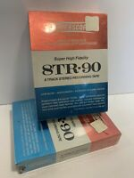 Vintage Rare! Superscope 8TR-90 8 Track Recording Tapes SEALED!