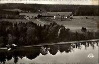 Gstadt am Chiemsee s/w AK 1965 Totale Fremdenheim Schalchenhof See KHP Luftbild