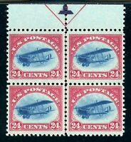 USAstamps Unused VF US Airmail Jenny Center Line Arrow Block Scott C3 OG MVLH