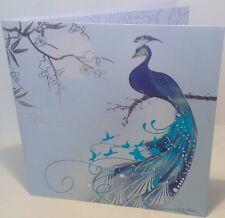 Arabesque Kimono Peacock Birthday Greeting Card by Marilyn Robertson
