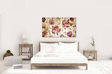 Wandtattoo Wandsticker Aufkleber Vintage Blumen Grösse: 120 x 70 cm