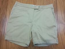 Womens Brooks Brothers Bermuda Shorts - Khaki - NWT - Re $69-Cute Anchor Buttons