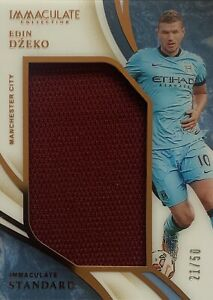 2020/21 Panini Immaculate Soccer - Edin Dzeko Bronze Card - Man City #21/50