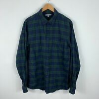 Uniqlo Mens Button Up Shirt Size Large Multicoloured Plaid Long Sleeve Collared