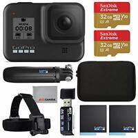 GoPro Hero 8 Black Camera, Batteries, 2 x 32GB Memory, Accessories - CHDRB801