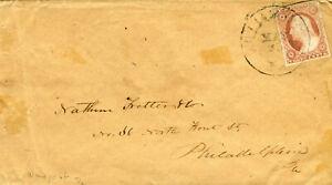 USA, 3 sehr alte frankierte Briefe, um ca. 1888