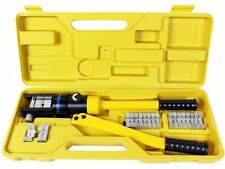 16-TON HYDRAULIC CRIMPING TOOL BATTERY CABLE LUG WIRE CRIMPER TERMINAL & 7 DIES