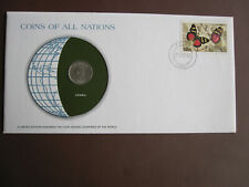 Zambia 1980 COINS OF ALL NATIONS cover with 5n coin + stamp