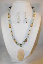 earrings by Healing Light Stones Handcrafted Natural Jade necklace &
