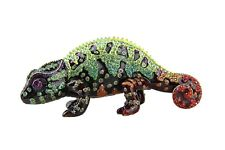 Jay Strongwater Coral Chameleon Swarovski Crystals Orange Belly New $795 Usa