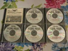 Lot of 6 Civil War Simulation / Library Cds - for 1996 era Windows or Mac