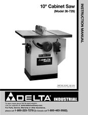 """Delta 36-729 10"""" Cabinet Saw Instruction Manual"""