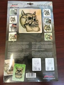 Harder & Steenbeck Stencil Template 410135 - Skull Set - New!!