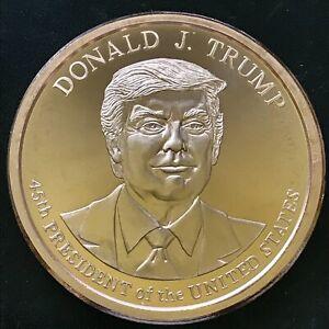 Donald Trump 2020 2 oz 999 47mm Copper BU Coin 45th President Commemorative MAGA