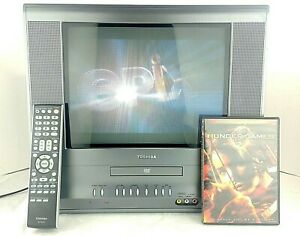 """Toshiba MD14H63 14"""" inch CRT Television Retro Video Gaming TV DVD Combo"""