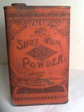 Antique Schultze #1 Shot Gun Smokeless Gun Powder Advertising Tin