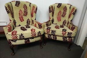 Vintage Parker Knoll winged Back Easy Chair, single or pair. Very unique