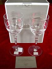 2 WATERFORD WINE GLASSES JASPER CONRAN AURA II 2 NEW BOXED WITH CERTIFICATE