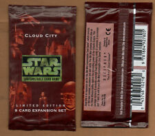 Star Wars CCG Factory Sealed 2 Booster Pack Cloud City Limited edition