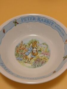 Wedgwood Happy Birthday from Peter Rabbit ~ Porcelain BOWL ~ 1996 F Warne & Co