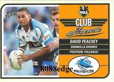 2005 SELECT TRADITION NRL CLUB HEROES: DAVID PEACHEY #CH4 CRONULLA SHARKS