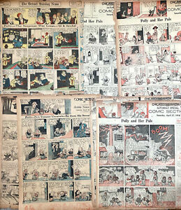 20 POLLY AND HER PALS Sunday Comics pages from 1917 by Cliff Sterrett