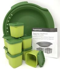 Tupperware Smart Steamer Microwave Cooking Accessories 9 Piece Set Green New