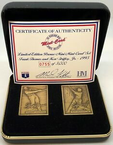 Highland Mint Ken Griffey, Jr and Frank Thomas Bronze Coin with Case 0755/5000!