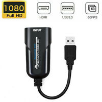 Capture Card video placa Recorder Streaming 1080P Adapter USB 3.0 HDMI Webcam