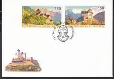 CEPT Liechtenstein 2017 Mi   FDC Castles used with FDC cancellation