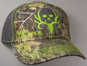 Hat Cap Licensed Bone Collector Grey Neon Green Realtree Camo Hunting OC