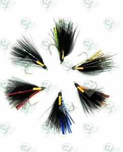 CORMORANT Trout Flies 3 Pack 8 HOLOGRAPHIC Colours Lures FLY Fishing Size 10,12
