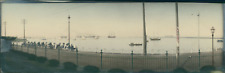 Japan, Panoramic View of a Harbor  Vintage silver print. Vue panoramique.  Tir