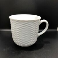 "Williams-Sonoma Pillivuyt Basketweave Coffee Mug Made In France 3 3/4""  12-oz"