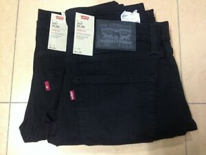 Levi's 511 Men's Slim FIT BLACK Jeans W:28 to 42 ,L:29 to 36 (04511-2694)