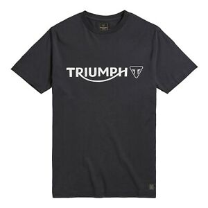 GENUINE TRIUMPH T-SHIRT CARTMEL JET BLACK T SHIRT BLACK TRIUMPH LOGO TEE