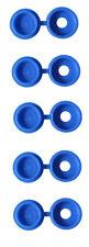 100 PCS BLUE AUTOMOTIVE NUMBER PLATE SCREW SNAP COVER CAP COVERS CAPS PMNP21