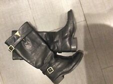 Coach black leather full length boots size 5