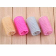 9PCS Large Self Grip Hair Rollers Curling Curls Waves Cling Stick Styling WE9X