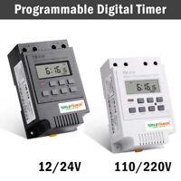 Programmierbare digitale Zeitschaltuhr-Relaissteuerung 12-220 V DC-Din-Schiene