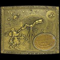 1928-1933 Disney 5 Years Mickey Minnie Mouse Fan Gift Brass 60s Vtg Belt Buckle