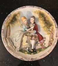 VINTAGE RAISED RELIEF 18TH CENTURY LORD & LADY DESIGN DECORATIVE PLATE